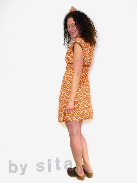 Kleid braun orange